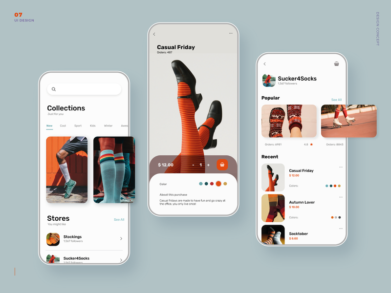 Mobile App - Shop Socks Concept user experience uiux mobile app shopping app userinterface uidesign mobile ui app ui concept