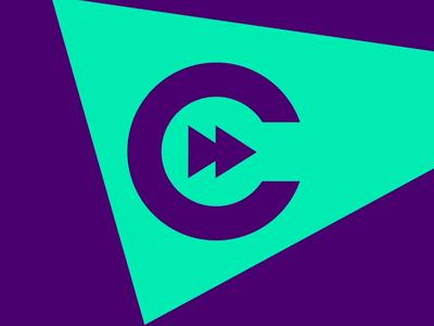 CW Logo Sting 2020 icon flat branding typography logo animation