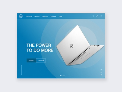 Dell website design