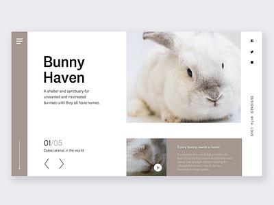 Web landing page design-bunny shelter product design landingpage ui challange website design web  design designchallenge branding ux  ui ux uxdesign uidesign ui interface design design