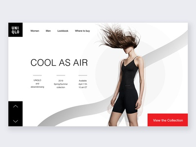 Web landing page design-uniqlo