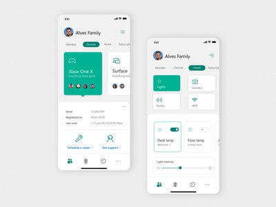 UI design - Smart home app