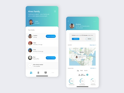 UI design- family safety app