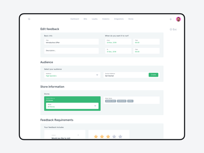 Feedback Module for a POS digitising startup ui designer uiux uidesign debutshot debut clean mobile design ui design ui