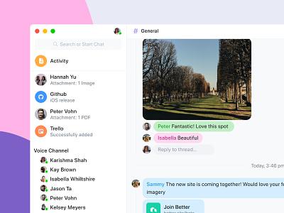 Slack 👉🏼👈🏼Discord communication discord slack mobile app website ux design clean mobile app design ui design ui