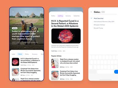News app debut shot clean ui design ui design debut