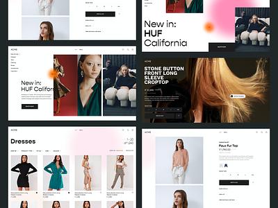 Fashion Influencer Network Website web design clothing ui design website design website fashion brand fashion