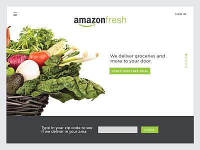 Daily UI: Landing Page landing page homepage groceries fresh amazon landing ux ui dailyui