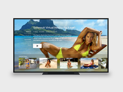 Swimsuit tvOS App hannah davis sports illustrated connected devices ui model swimsuit apple tv tvos