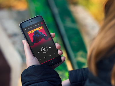 Daily UI Day 009: Music Player the weeknd design app mobile ios starboy audio player music