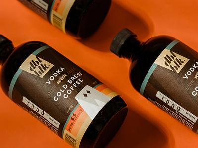 Cold Brew Cocktail Packaging - DBL BLK label spirits booze design coffee cocktail logo branding denver package design packing packaging package