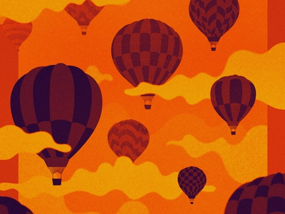 Things are looking up design texture vector hot air balloon illustration