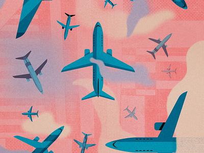 On The Move digital illustration digital art planes design vector art texture illustration art illustration illustrator
