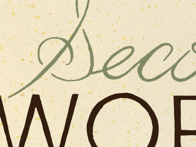 Second Words | Lettering