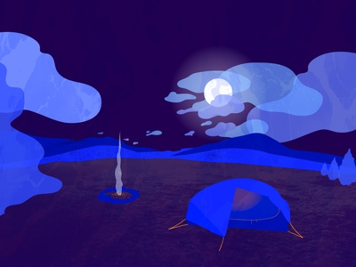 Ready for Spring landscape camping denver art texture vector design illustration