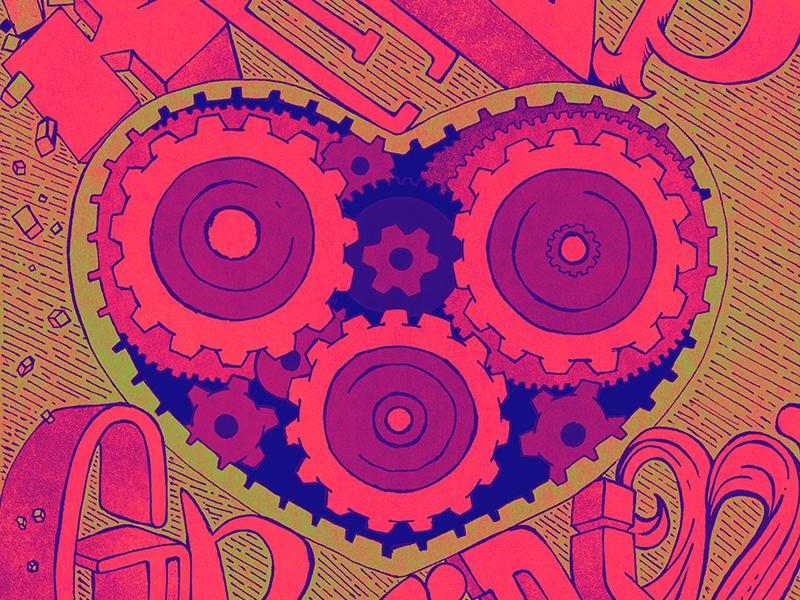 Keepgrindin lettering art texture vector design illustration