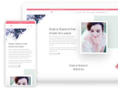 Web Design - Online Appointment Scheduling System branding and identity web hosting 3d mockup branding strategy makeup artist hair stylist booking scheduling webdesign wordpress salon appointment woocommerce
