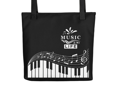 Music is My Life - Music Notes Electronic Keyboard