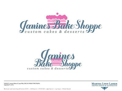 JaninesBakery logo design website design business card packaging mug become impressive contractor hiremarthalynnlaskie marketing yonkersagency branding typography logo graphic design brooklyn bakery bakery logo