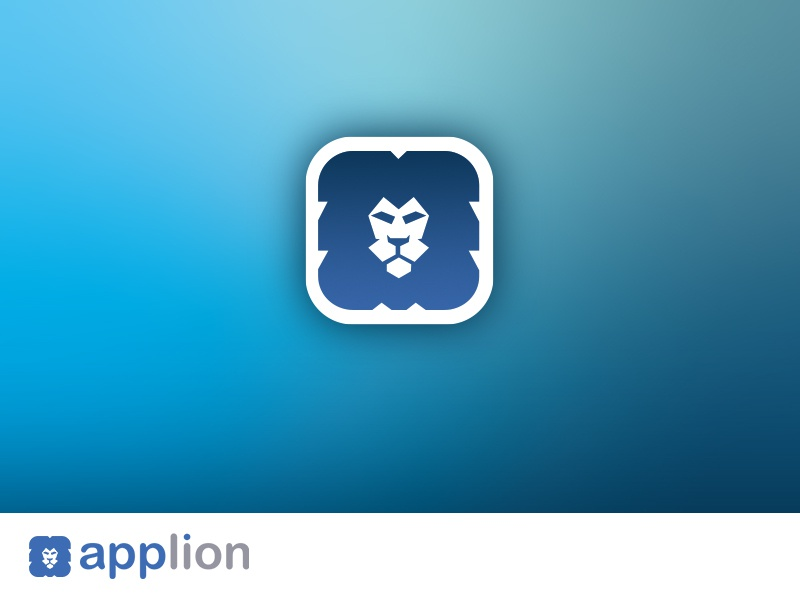 App Development Company animal idenity application development logo design lion flat ux icon app typography branding logo