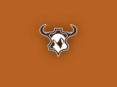 Leather Bull Logo logotype mountain simple branding leather logodesign bull logo