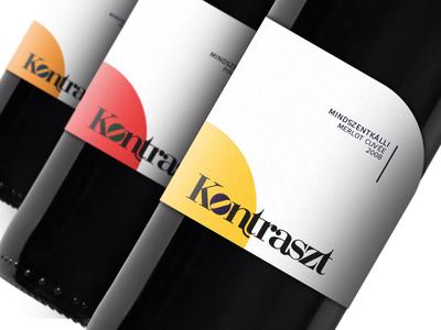 Contrast Wines graphicdesign labeldesign contrast label wine