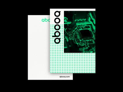 QBOOQ stationary gradient graphic  design minimal design logo logodesign branding