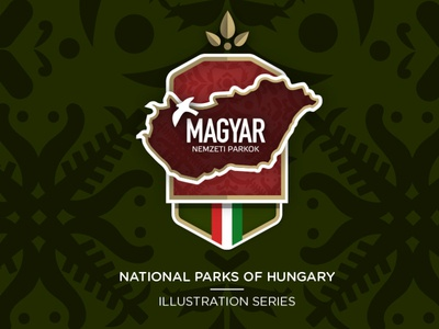 National Parks of Hungary identity vector icon series behance pin badges badge park national logo design illustration logo branding