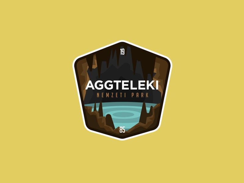 AGGTELEK NATIONAL PARK park national hungary badges badge vector illustration logodesign identity logo branding