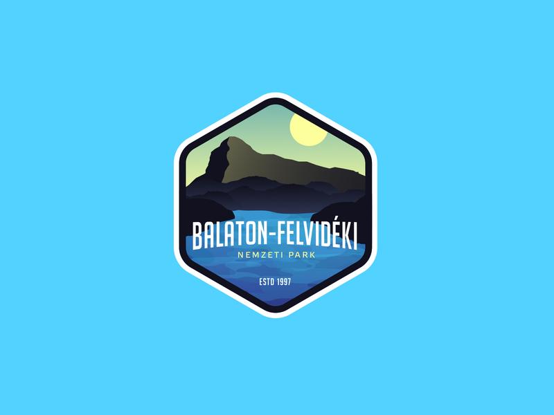 BALATON UPLANDS NATIONAL PARK mountain park national lake sticker pin badges badge balaton vector illustration icon logodesign identity logo