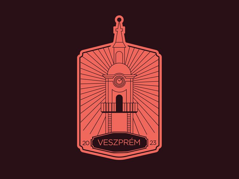 Veszprém 2023 hungary dribbble sticker illustration logo weekly challenge