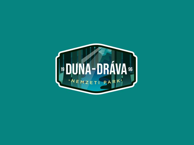 DANUBE-DRAVA NATIONAL PARK hungary typography vector badge illustration logodesign identity branding logo