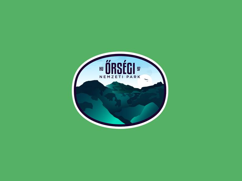 Őrség National Park hungary badges vector badge icon illustration logodesign identity branding logo
