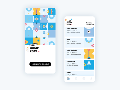 Brainly Camp App vector illustration edtech clean ux ui design app organizer events calendar