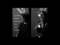 [Victoire Bélézy's Portfolio] Menu & Voices