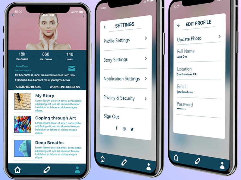 Daily UI Challenge 6 & 7 mock-up iphone app design digital design typography settings user profile mobile app uxdesign uidesign ux ui 007 006 daily ui