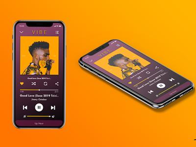 Daily UI Challenge #9 music player mock-up iphone ux ui app design digital design 009 daily ui