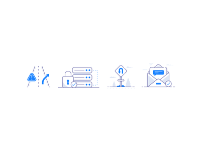 Insurance icons product design ux ui minimal email mail message sign server security driving safety