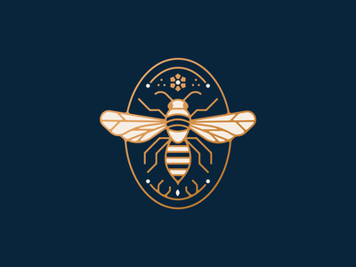 The Search brand design branding packaging gold lineart animal insect bee illustrator nature vector icon minimal illustration