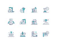 Criteria Corp Icons iconography app ux design branding ui vector icon illustration
