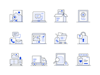 Canvaspop Icons web app ux illustrator logo branding ui vector icon illustration