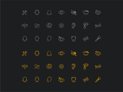 Photo editing icons ear skin hair app edit ux ui icon icons lips eye nose face magic