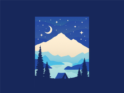 Basecamp WIP apparel explore shadow gradient minimal texture vector nature mountain tent camping