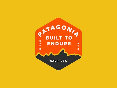 Patagonia badge outdoors shirt apparel badge logo branding brand design visual design badge ui illustrator nature vector minimal illustration