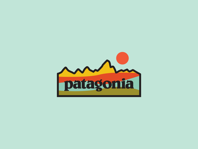 Patagonia Waves apparel camping outdoors art patagonia illustrator nature vector minimal illustration