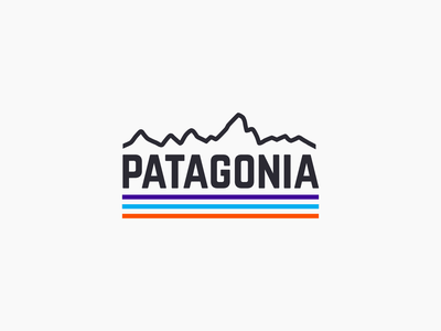 Minimal Patagonia apparel outdoor logo patagonia travel camp camping outdoors branding design