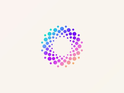 Chromotion gradient absract ux ui vector geometry circle motion color branding brand mark logo design logo