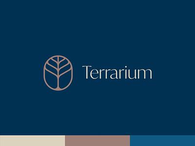 Terrarium nature logo tree logo logotype lineart typography identity abstract minimal terrarium outdoors nature tree branding design branding logo
