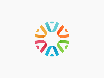 Connection illustrator vector global connect abstract ribbon gradient color circle brand design brand brandidentity branding logo
