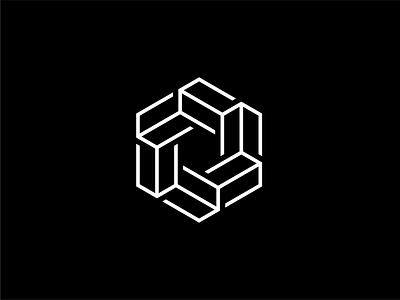 Hex-block visual design ui branding abstract minimal block hexagon blockchain logo design logo